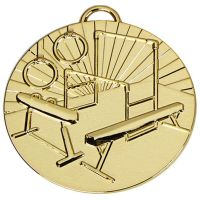 Target50 Gymnastics Medal with RWB</br>AM1014R.01